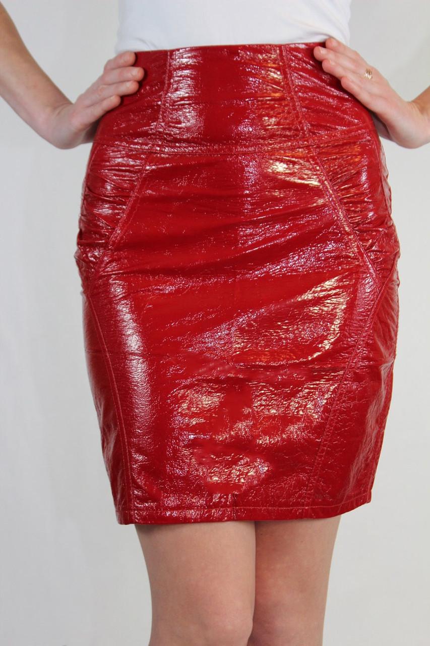 Зауженная юбка 42-48 р ( красный, черный )