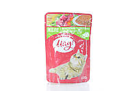 Корм влажный для котов Мяу желе с телятиной с овощами