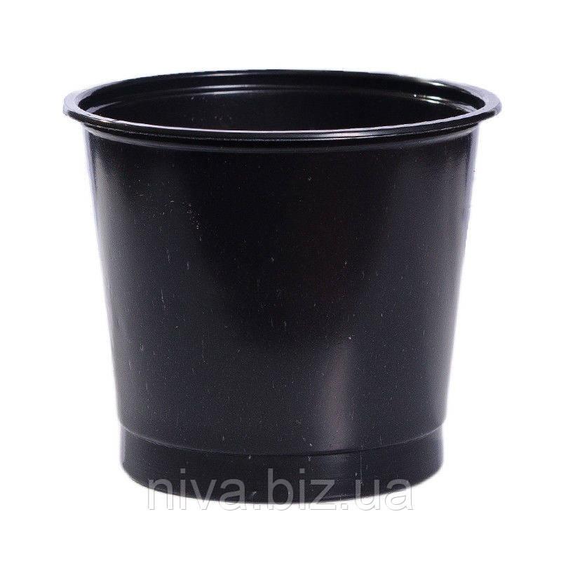 Стакан для розсади з отворами 200 мл діаметр 80 мм висота 75 мм