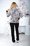 Брендовый турецкий костюм Eze леопард принт , фото 4