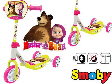 Детский самокат трехколесный Smoby Маша и Медведь Smoby 750100, фото 2