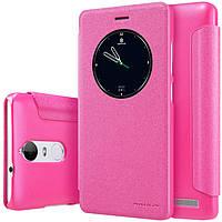 Кожаный чехол Nillkin Sparkle для Lenovo K5 Note розовый