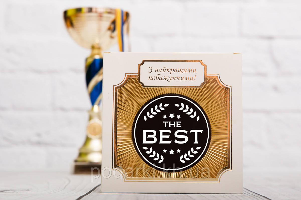 """Шоколадная медаль """"The BEST"""". Поздравительная медаль лучшему папе."""