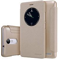 Кожаный чехол Nillkin Sparkle для Lenovo K5 Note золотистый