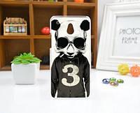 Силиконовый чехол накладка для HTC One Mini с картинкой панда