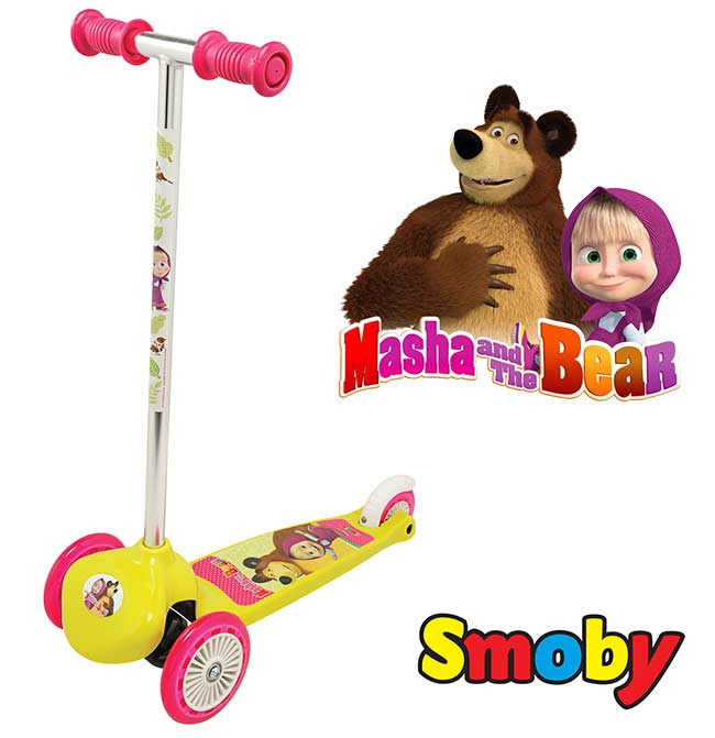 Трехколесный скутер Smoby Маша и Медведь Smoby 750200
