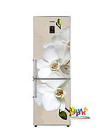 Виниловая наклейка на холодильник Белая орхидея