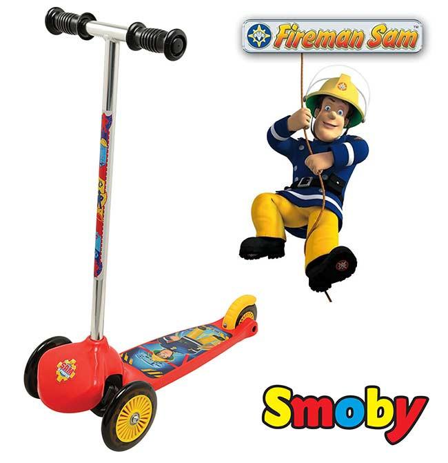 Трехколесный самокат Smoby Пожарный Сем Smoby 450152