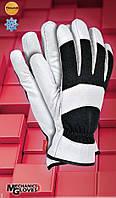 Перчатки рабочие RMC-GEMINI.Утеплённые защитные перчатки из высококачественной свиной лицевой кожи и ткани., фото 1