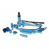 Набор гидроцилиндров и насадок для кузовных работ с насосом  UNITRAUM UN71001 10 т (кейс пластик)
