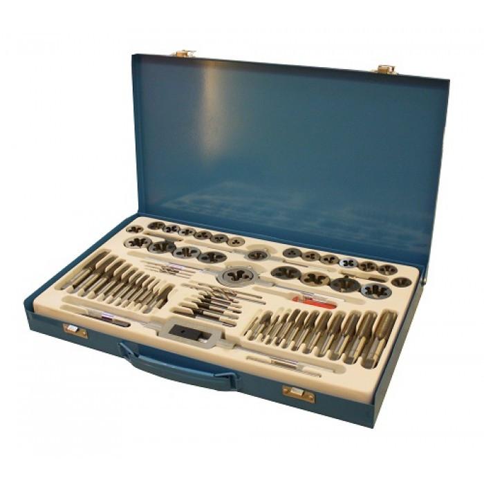 Набор метрический метчиков и плашек UNITRAUM UNX065 (65 предметов)