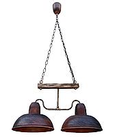 Светильник подвесной Gryb-Light, LOFT Debut PL0105-2, керамика, дерево.
