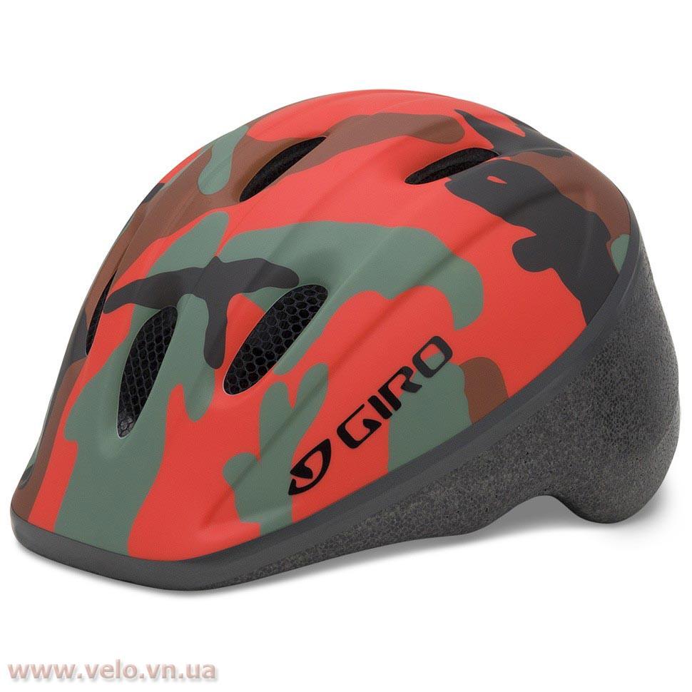 Велошлем детский Giro Me 2 Glowing красный Camo, Uni (48-52 (GT)