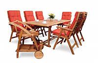 Обеденный набор деревянный KALIFORNIA  6+1 ,стол 150-200см