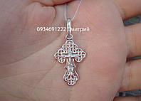 Ажурний срібний хрестик