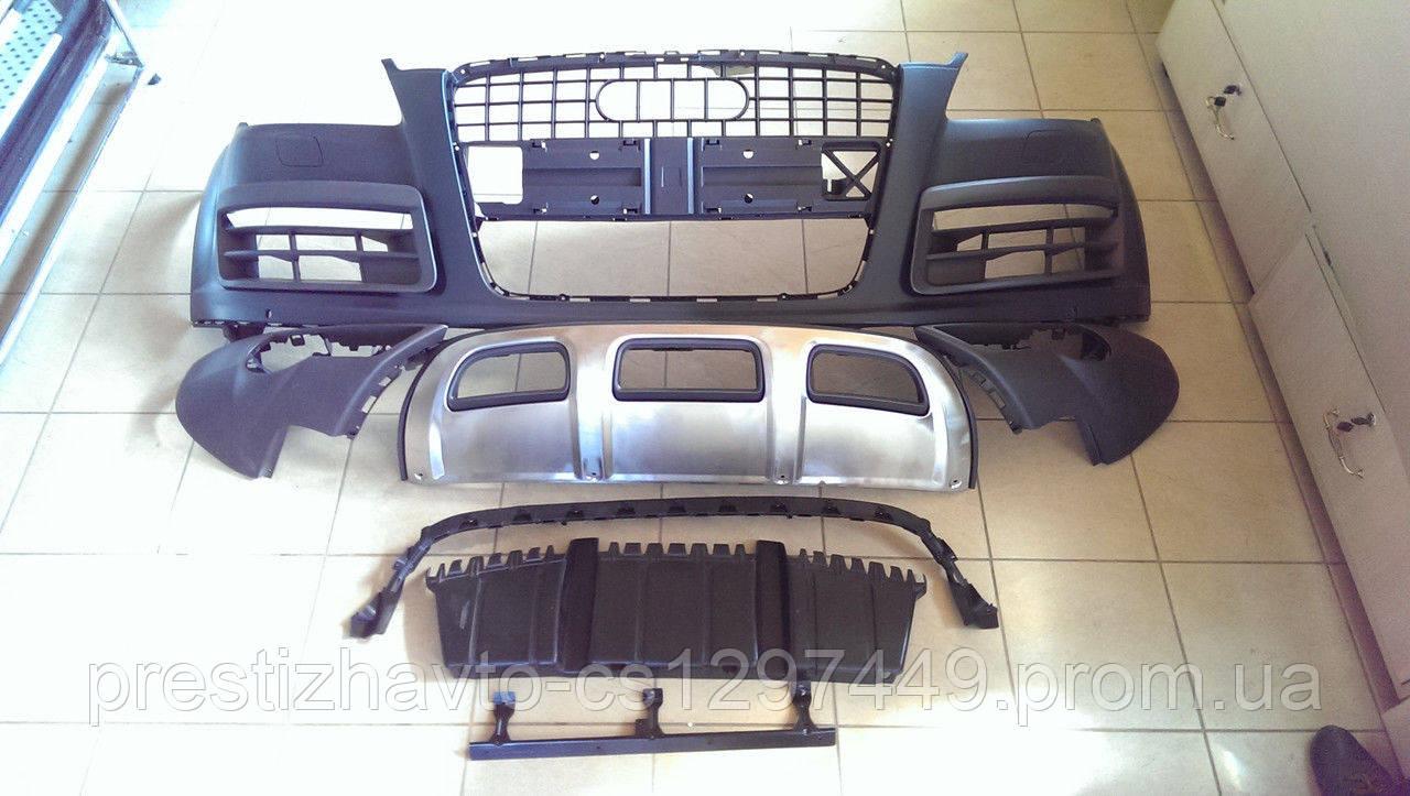 Передний бампер на Audi Q7 рестайлинг