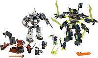 Ninjago конструктор 10399: 757 деталей, 5 фигурок и Скример, оружие, наклейки, инструкция