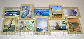 Мультирамка на 10 фото История 10, леопардового цвета