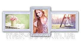 Мультирамка на 3 фото Полет, белая
