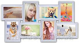 Мультирамка на 8 фото История 8, белая
