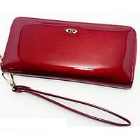 Красный кошелек лаковый SТ ВС38 red