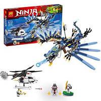 Детский конструктор для мальчиков Lele Ninja 79141 Битва Дракона-Молнии: 657 деталей, 4 фигурки