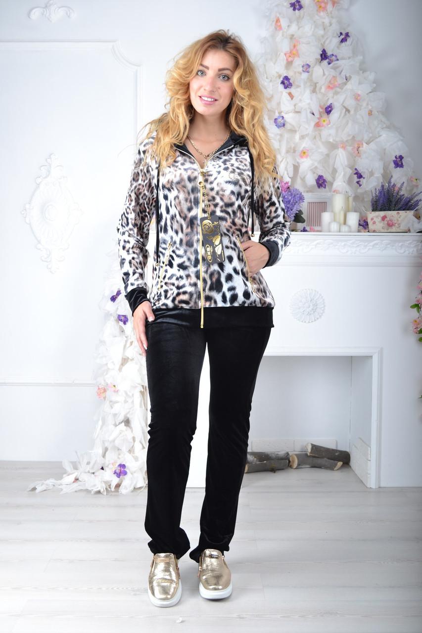 Брендовый турецкий костюм Eze леопард принт с мордой