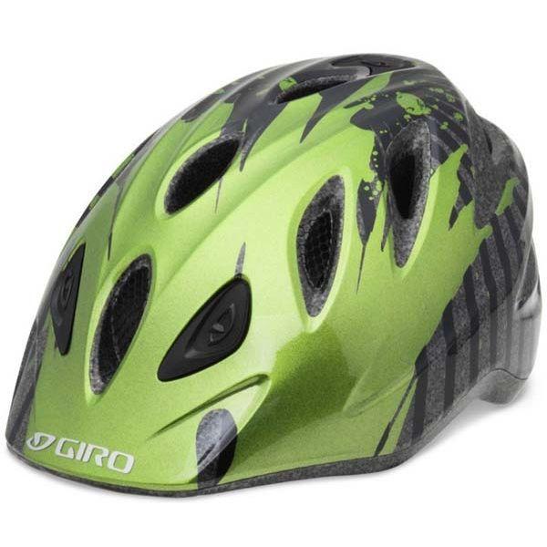 Велошлем детский Giro RASCAL чорный/ANO зеленый Dunk, S/M (46-50) (GT)