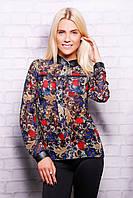 Винтажная блузка магазин | Винтажные цветы блуза Лекса 1 д/р