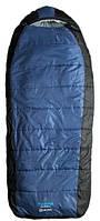 Прочный спальный мешок Caribee Tundra Jumbo / -10°C Steel Blue (Left) 921301 синий