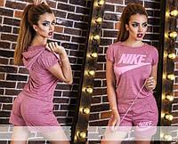 "Женский спортивный костюм с шортами  "" Nike мрамор шорты "" SK House"
