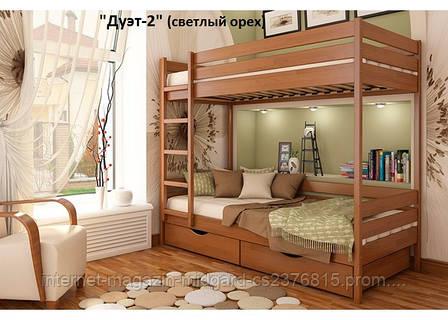 Кровать двухярусная трансформер Дует 2 (массив), фото 2