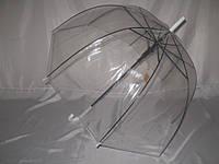 """Прозрачная женская трость грибком №3465 от фирмы """"FEELING RAIN"""""""