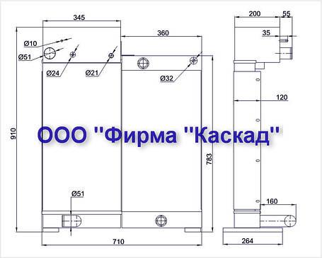 """Радиатор для экскаватора """"Атлас 1604"""", фото 2"""
