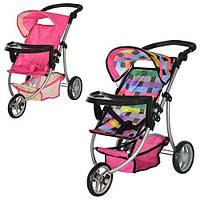 Прогулочная коляска для кукол Melogo 9377В-Т: пластик/текстиль/металл, 3 колеса, 59*35,5*63,5см