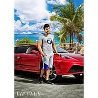Летний мужской костюм  BMW: футболка и шорты