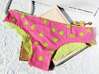 Трусики/Слипы гипюр Victoria's Secret, розовые, фото 1