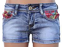 Короткие летние шорты из джинса