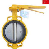 Затворы Баттерфляй, газовые, Ayvaz Турция  Ду 150