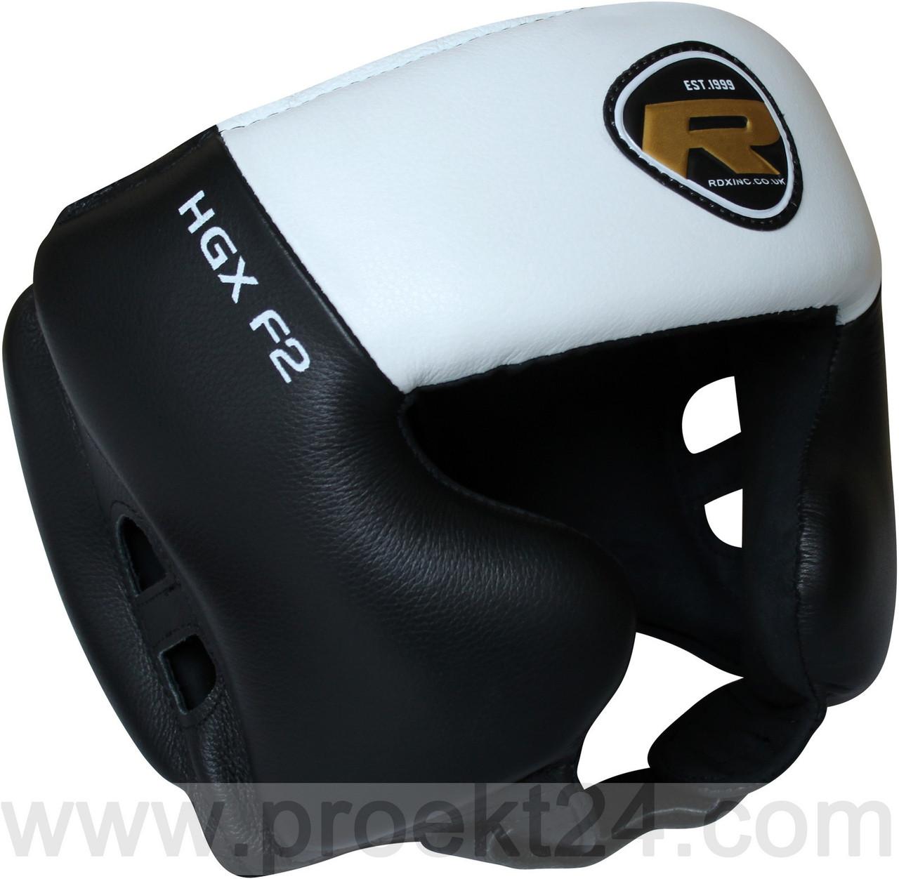Боксерский шлем тренировочный RDX White-L