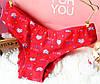 Трусики/Слипы гипюр Victoria's Secret, красные