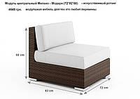Модуль центральный Милано (72*82*66) - мебель для дома, мебель для ресторана, мебель для веранды