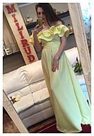 Женское шикарные, волшебные однотонные платья в пол(10 цветов)