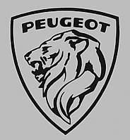 Виниловая наклейка на авто - Peugeot Logo 20х16 см