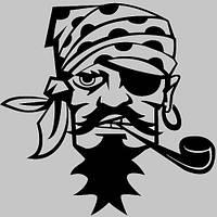 Виниловая наклейка на авто - Пират