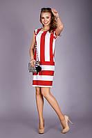 Яркое летнее платье из тонкой и натуральной вискозной ткани в модную широкую полоску