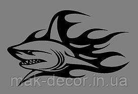 Виниловая наклейка Акула