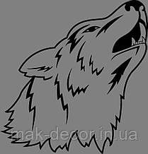 Виниловая наклейка Волк 52х50 см