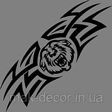 Виниловая наклейка Тигр-абстракция