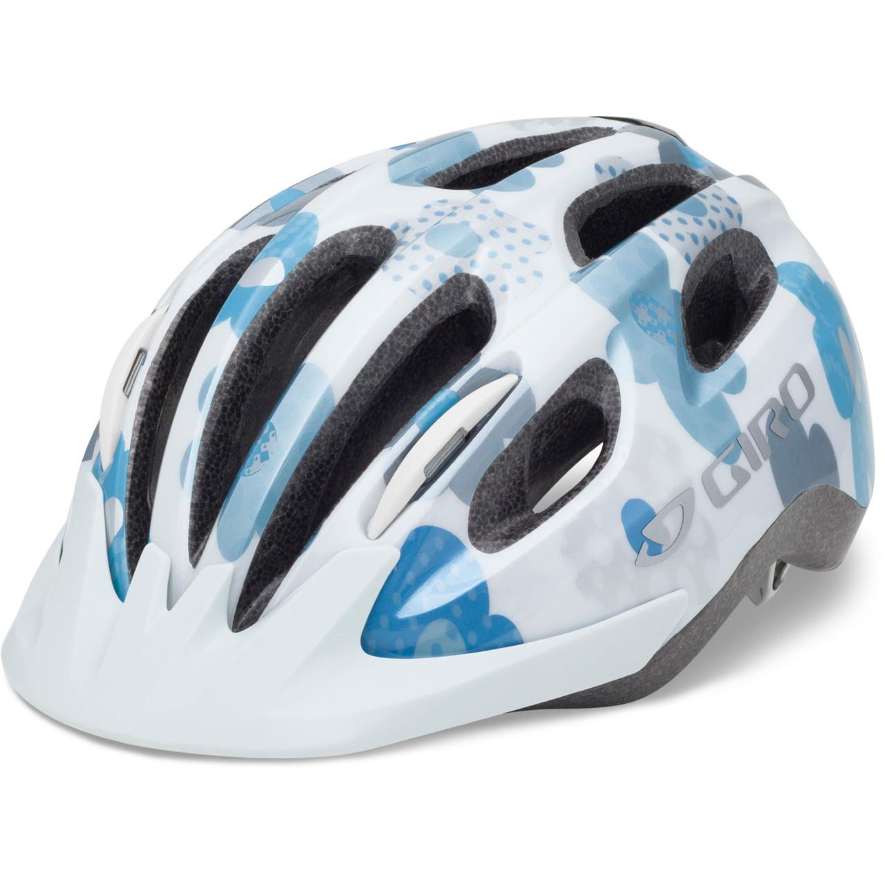 Велошлем подростковый Giro Flurry II белый/молочный/синий Flowers, Uni (50-57) (GT)